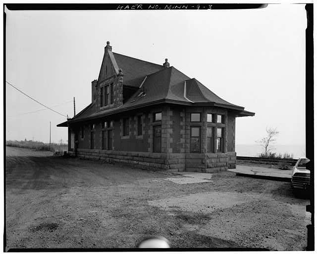 3.  VIEW OF WEST REAR, LOOKING EAST - Endion Passenger Depot, 1504 South Street, Duluth, St. Louis County, MN