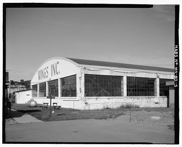 5.  VIEW OF SOUTHWEST CORNER - Saint Paul Airport Municpal Hangar, 674 Bay Field Street, Saint Paul, Ramsey County, MN