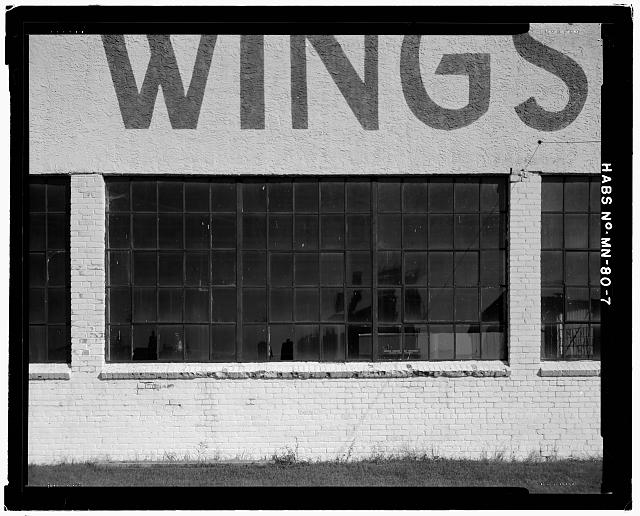 7.  WINDOW DETAIL AT WEST FACADE - Saint Paul Airport Municpal Hangar, 674 Bay Field Street, Saint Paul, Ramsey County, MN