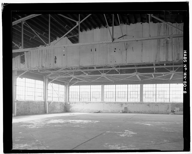 8.  INTERIOR VIEW FACING WEST - Saint Paul Airport Municpal Hangar, 674 Bay Field Street, Saint Paul, Ramsey County, MN