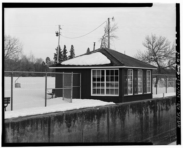 4.  West and south sides of lockhouse - Sandy Lake Reservoir Dam & Lock, Lockhouse, McGregor, Aitkin County, MN