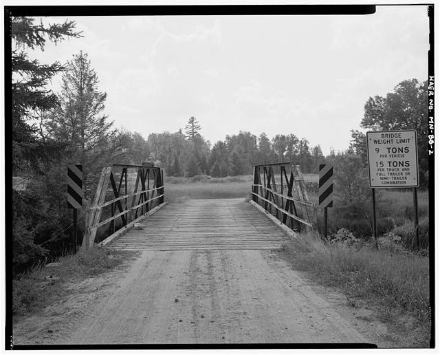 2.  North approach, looking south - Bridge No. 92101, Spanning Pike River at County Highway 373, Embarrass, St. Louis County, MN