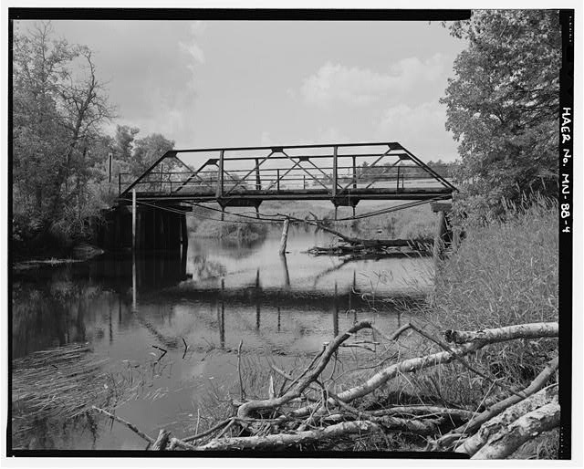 4.  East side, looking west - Bridge No. 92101, Spanning Pike River at County Highway 373, Embarrass, St. Louis County, MN