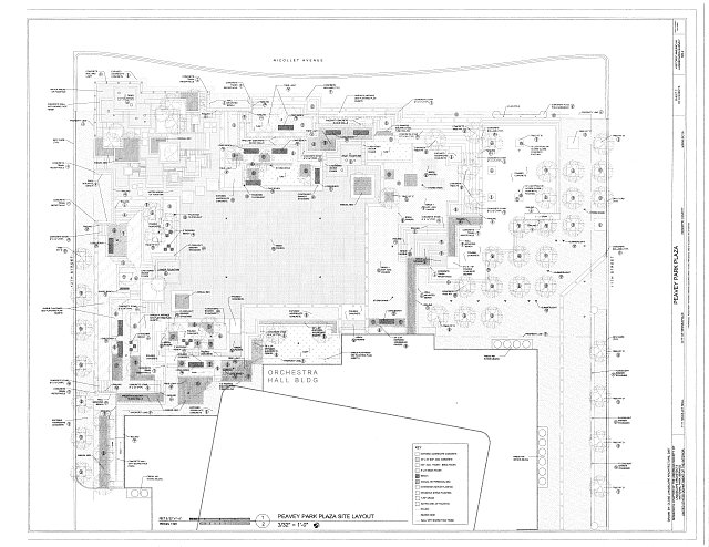 site plan - Peavey Park Plaza, 1111 Nicolet Mall, Minneapolis, Hennepin County, MN