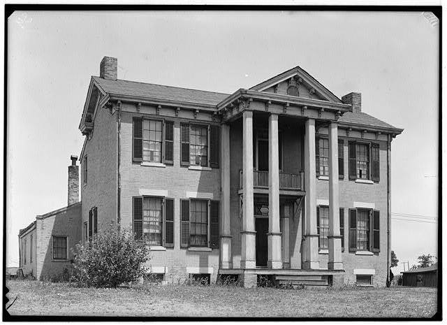 1.  Historic American Buildings Survey, Theodore LaVack, Photographer. September, 1936. - Powers Mansion, National Bridge & Brown Roads, Overland, St. Louis County, MO