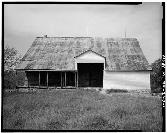 1.  EAST FRONT - Pelster House-Barn, Cedar Fork Road, Detmold, Franklin County, MO