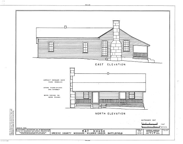 HABS MO,39-SPRIF.V,1A- (sheet 3 of 5) - Ray House, Springfield, Greene County, MO