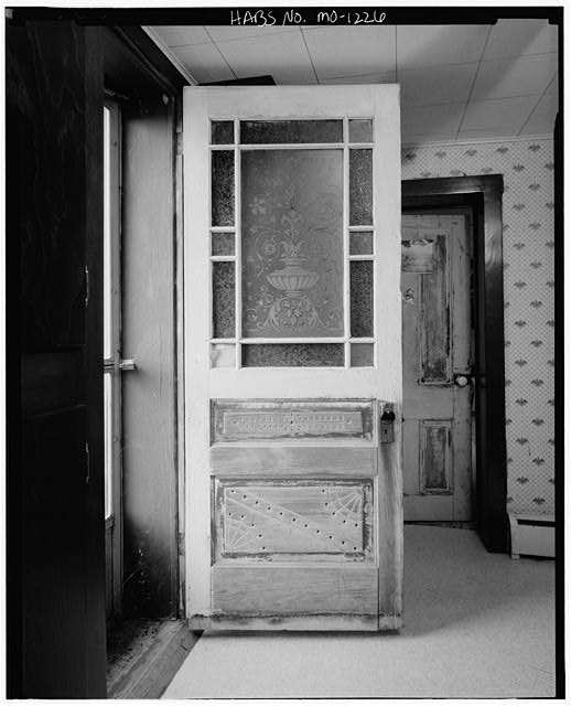 8.  Historic American Buildings Survey David J. Kaminsky, Photographer August 1978 EXTERIOR OF SECOND FLOOR FRONT DOOR - Sophia Rollins House, Farm Route F vicinity, Smithville, Clay County, MO