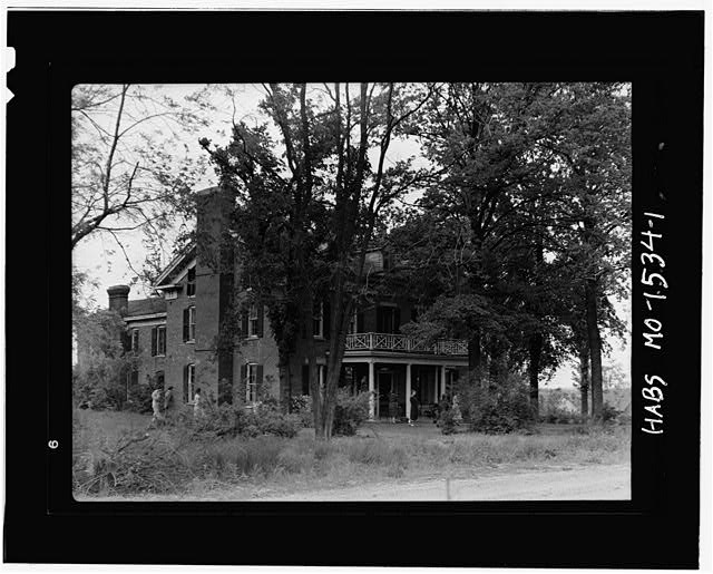 1.  FRONT AND SIDE FACADE - Maclay House, Tipton, Moniteau County, MO