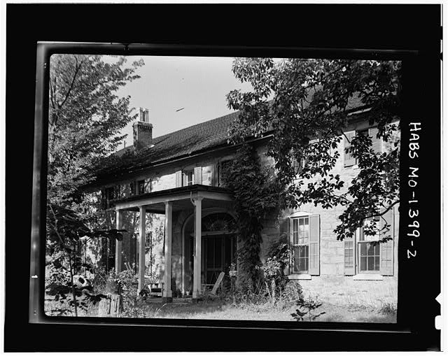 2.  FACADE FROM NORTHWEST, SHOWING DOORWAY DETAIL - General William Selby Harney House, Sullivan, Franklin County, MO