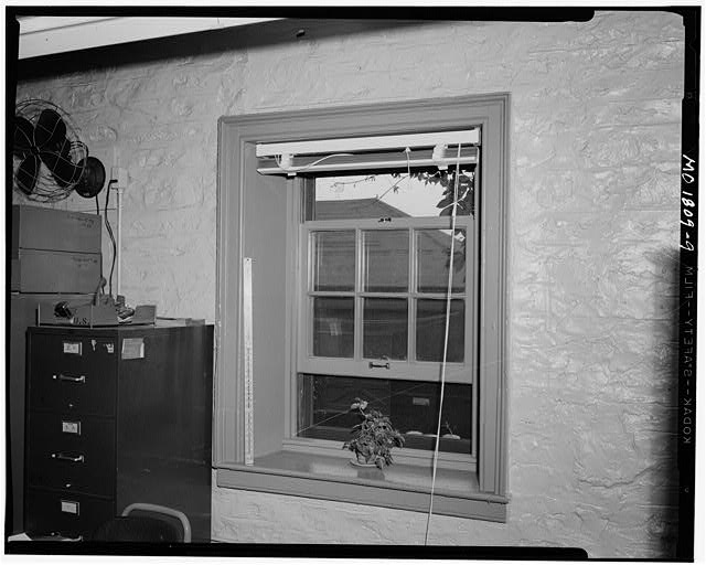 9.  Window. Interior of unidentified building. ca. 1957-60 - Jefferson Barracks, Jefferson Barracks, St. Louis County, MO