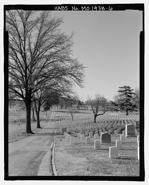 - Jefferson Barracks National Cemetery, 2900 Sheridan Road, Green Park, St. Louis County, MO