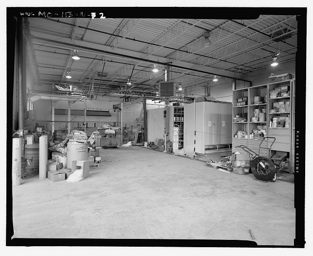 Looking West at Interior of Pellet Warehouse Including the North End Shipping and Storage Area - Hematite Fuel Fabrication Facility, Warehouse, 3300 State Road P, Festus, Jefferson County, MO