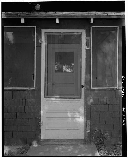 7.  Front Porch - U. S. Indian Service Laborer's Cottage, Lame Deer, Rosebud County, MT