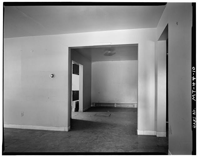 10.  Back Living Room, Showing Kitchen Entrance - U. S. Indian Service Laborer's Cottage, Lame Deer, Rosebud County, MT