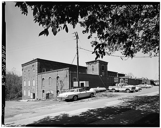3.  Randall Page, Photographer, April 1978. OVERALL VIEW FROM NORTHEAST. - Glencoe Cotton Mills, State Routes 1598 & 1600, Glencoe, Alamance County, NC