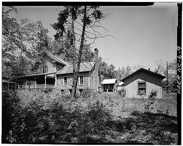 9.  JoAnn Sieburg-Baker, Photographer, April 1978. MILL HOUSE WITH KITCHEN. - Glencoe Cotton Mills, State Routes 1598 & 1600, Glencoe, Alamance County, NC
