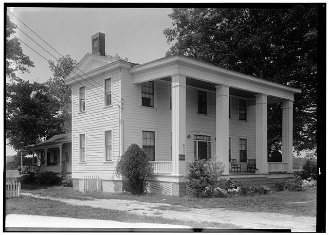 2.  May 10, 1958 VIEW FROM THE EAST. - Smithson House, Newland Highway, Elizabeth City, Pasquotank County, NC