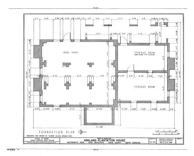 HABS NC,91-HEND.V,1- (sheet 2 of 8) - Ashland Plantation House, Satterwhite Road, Henderson, Vance County, NC