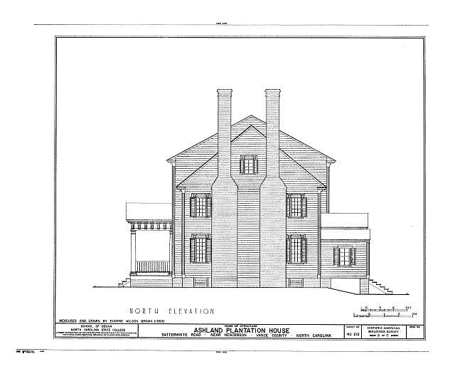 HABS NC,91-HEND.V,1- (sheet 6 of 8) - Ashland Plantation House, Satterwhite Road, Henderson, Vance County, NC