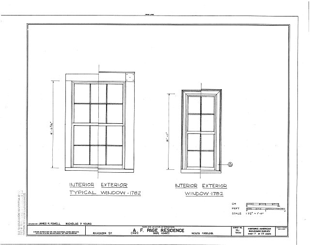 HABS NC,92-CARY,1- (sheet 17 of 23) - A. T. Page House, Wilkenson Street, Cary, Wake County, NC