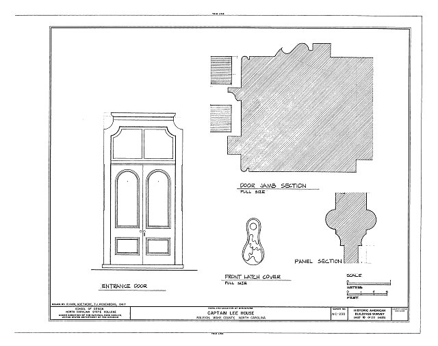 HABS NC,92-RAL,9- (sheet 10 of 20) - Captain Lee House, 503 East Jones Street, Raleigh, Wake County, NC
