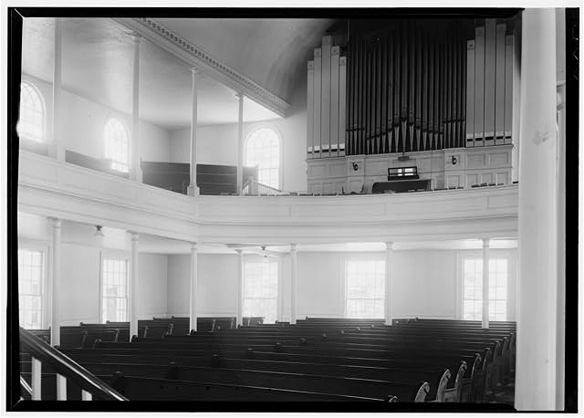 9.  Historic American Buildings Survey, Thomas T. Waterman, Photographer July, 1940 INTERIOR LOOKING TOWARD ORGAN. - First Presbyterian Church, New & Middle Streets, New Bern, Craven County, NC