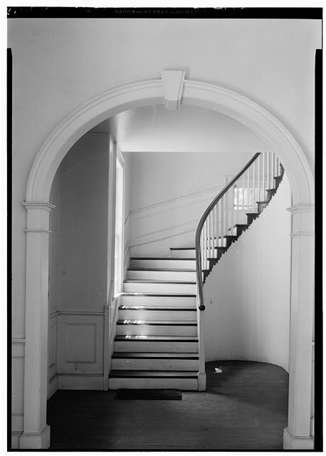 7.  Historic American Buildings Survey, Thomas T. Waterman, Photographer July, 1940 DETAIL OF GALLERY STAIR. - First Presbyterian Church, New & Middle Streets, New Bern, Craven County, NC