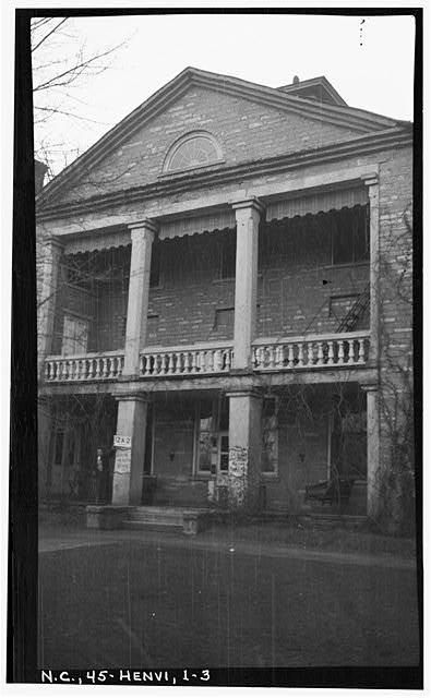 3.  Historic American Buildings Survey, Stewart Rogers, Photographer February 15, 1934 EAST PORTICO (ENTRANCE). - Judson College, Third Avenue & West Flemming Street, Hendersonville, Henderson County, NC