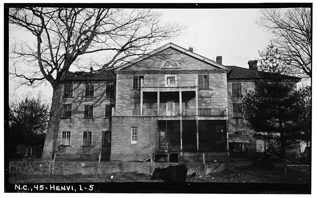5.  Historic American Buildings Survey, Stewart Rogers, Photographer February 15, 1934 REAR ELEVATION (WEST). - Judson College, Third Avenue & West Flemming Street, Hendersonville, Henderson County, NC
