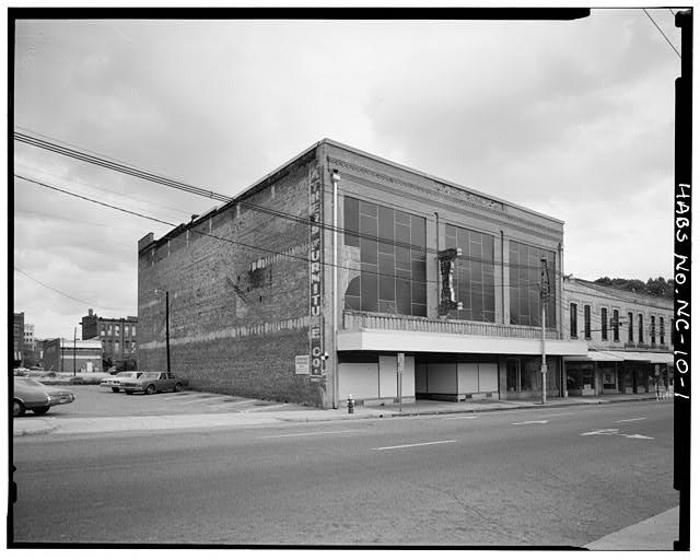 1.  View from southwest, East Martin Street entrance and west party wall - Barber-Towler Building (Commercial Building), 123 East Martin Street, Raleigh, Wake County, NC