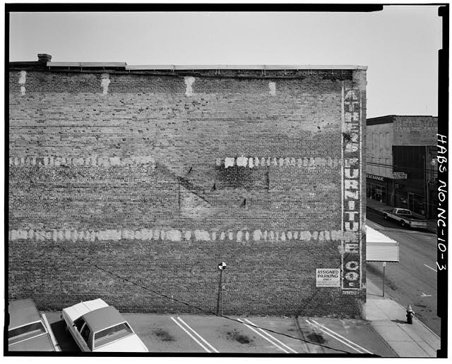 3.  Partial view of west party wall, south half - Barber-Towler Building (Commercial Building), 123 East Martin Street, Raleigh, Wake County, NC