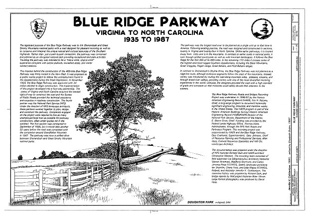 HAER NC,11-ASHV.V,2- (sheet 1 of 28) - Blue Ridge Parkway, Between Shenandoah National Park & Great Smoky Mountains, Asheville, Buncombe County, NC