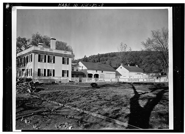 8.  GENERAL VIEW OF SOUTHWEST SIDE AND ATTACHED FARM BUILDINGS - Wheeler House, Orford Street, Orford, Grafton County, NH