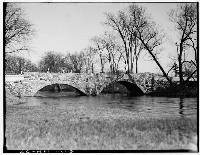 1.  Historic American Buildings Survey E. W. Clark, Photographer NEAR INTERSECTION OF ROUTE No. 32 & No. 9 LOOKING SOUTHEAST - Stone Bridge, Routes 32 & 9, Hillsboro, Hillsborough County, NH