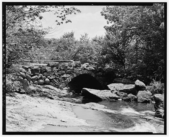1.  Historical American Buildings Survey L. C. Durette, Photographer May 15, 1936 GLEASON FALLS BRIDGE VIEW FROM UP STREAM - Gleason Falls Bridge, Spanning Beard Brook, Hillsboro, Hillsborough County, NH