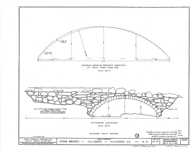 HABS NH,6-HILL.V,1D- (sheet 2 of 2) - Gleason Falls Bridge, Spanning Beard Brook, Hillsboro, Hillsborough County, NH
