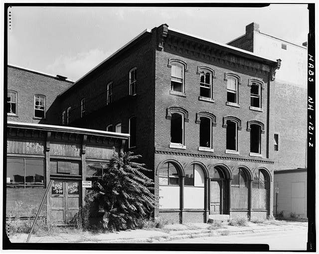 2.  SOUTH ELEVATION (FRONT) AND WEST ELEVATION (SIDE) - T. L. Thorpe Building, 19 Traction Street, Manchester, Hillsborough County, NH