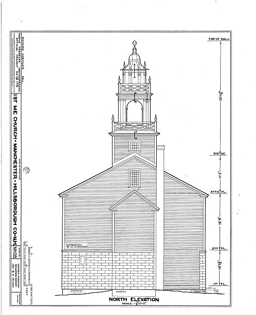HABS NH,6-MANCH,1- (sheet 8 of 16) - First Methodist Episcopal Church, Valley & Jewett Streets (moved from NH, Derryville), Manchester, Hillsborough County, NH