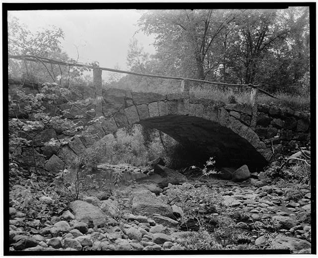 2.  Historical American Buildings Survey L. C. Durette, Photographer May 15, 1936 SECOND NEW HAMPSHIRE TURNPIKE BRIDGE AT FULLERS TANNERY FIRST ARCH LOOKING UP STREAM - Second New Hampshire Turnpike Bridge, Fullers Tannery, Hillsboro, Hillsborough County, NH