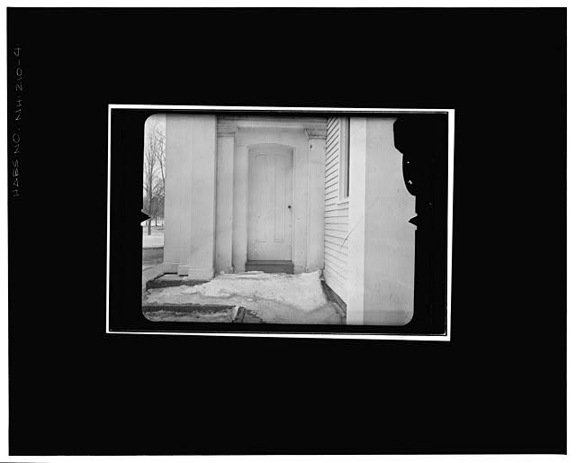 4.  NORTH DOOR TO VESTIBULE Copy photograph of photogrammetric plate LC-HABS-GS07-T-1116-803R. - Orford Congregational Church, Main Street, Orford, Grafton County, NH