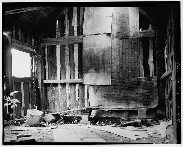5.  Interior, looking west - Harvey L. White Farm, Sap House, East side of Route 202, approximately 600 feet north of Hillsborough-Antrim town line, Hillsboro, Hillsborough County, NH
