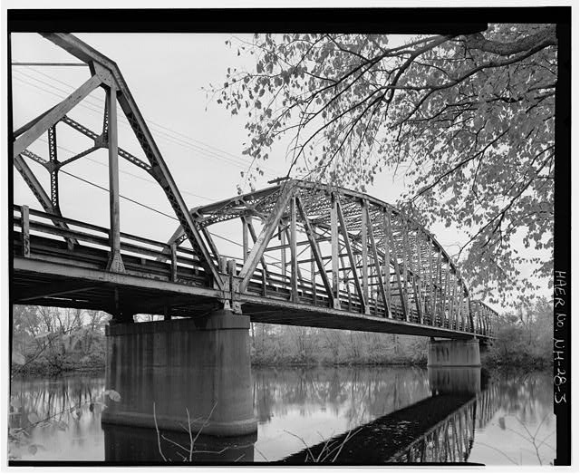 3.  View looking west from east bank, three-quarter view of northeast elevation. - Manchester Street Bridge, Spanning Merrimack River at Manchester Street (U.S. Route 3), Concord, Merrimack County, NH