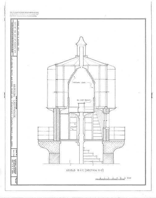HABS NJ,1-ATCI,2- (sheet 3 of 4) - Absecon Lighthouse, Pacific Avenue, between Rhode Island &amp; Vermont Avenues, Atlantic City, Atlantic County, NJ