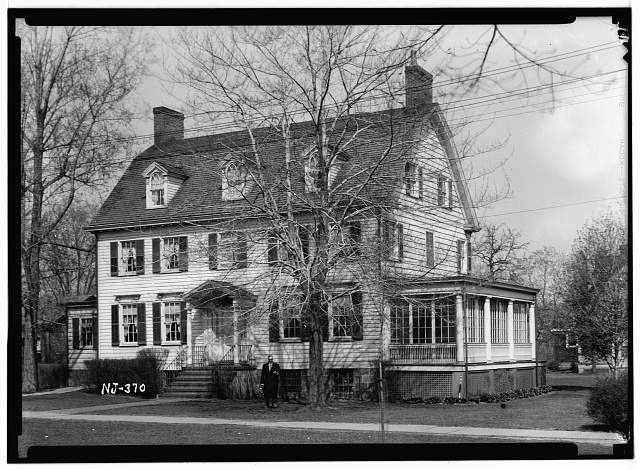 1.  Historic American Buildings Survey R. Merritt Lacey, Photographer April 15, 1937 EXTERIOR - NORTHWEST ELEVATION - First Presbyterian Church on-the-Green, The Manse, Bloomfield, Essex County, NJ