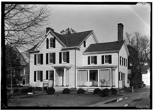 2.  Historic American Buildings Survey R. Merritt Lacey, Photographer April 30, 1936 EXTERIOR - SOUTHWEST ELEVATION - Grover Cleveland Birthplace, 207 Bloomfield Avenue, Caldwell, Essex County, NJ