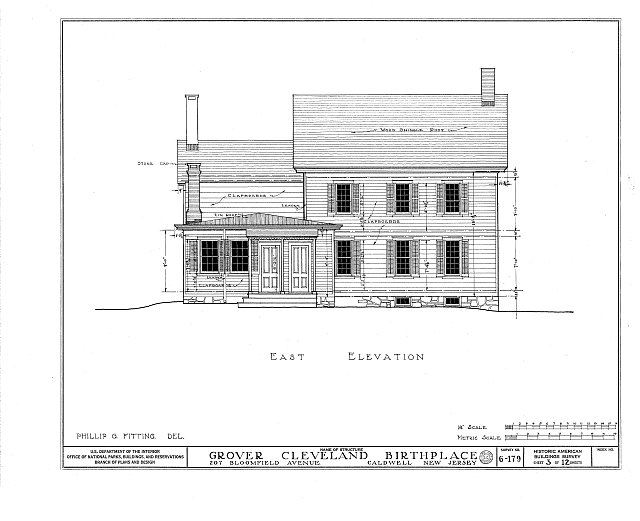 HABS NJ,7-CALD,2- (sheet 3 of 12) - Grover Cleveland Birthplace, 207 Bloomfield Avenue, Caldwell, Essex County, NJ