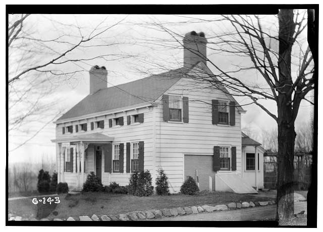 1.  Historic American Buildings Survey R. Merritt Lacey, Photographer April 15, 1936 EXTERIOR - SOUTHWEST ELEVATION - John Cory House, 485 Bloomfield Avenue, Caldwell, Essex County, NJ