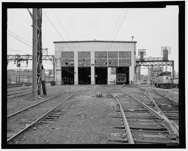 3.  VIEW WEST, EAST ELEVATION - Delaware, Lackawanna & Western Railroad Freight & Rail Yard, Multiple Unit Light Inspection Shed, New Jersey Transit Hoboken Terminal Rail Yard, Hoboken, Hudson County, NJ