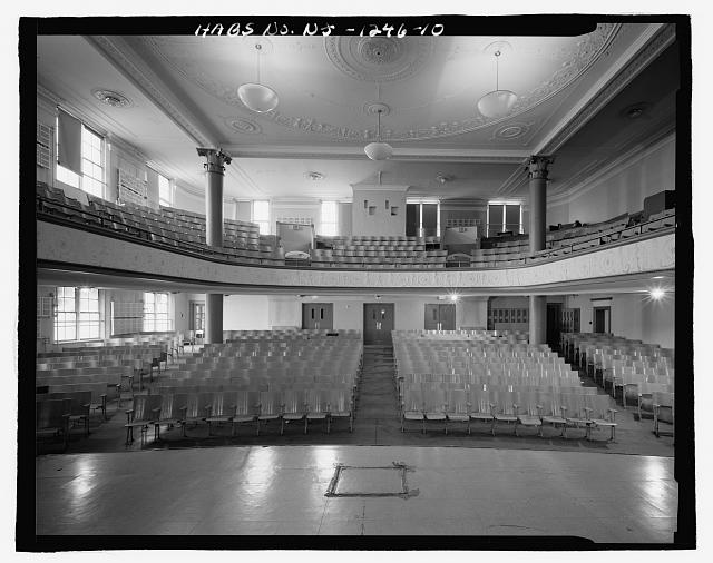 AUDITORIUM LOOKING FROM STAGE TO REAR - Thirteenth Avenue School, 131 Thirteenth Avenue, Newark, Essex County, NJ